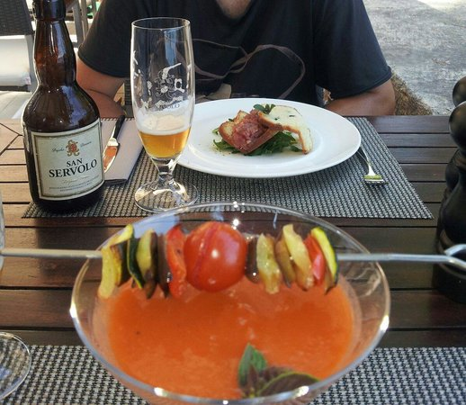 Lesic Dimitri : gazpacho y tartar de atún