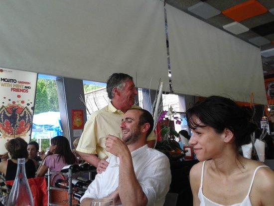 Restaurant del Prat Gran: le patron vient nous saluer