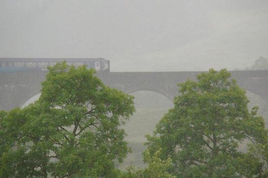 Glenfinnan Viaduct: Regular train crossing the viaduct