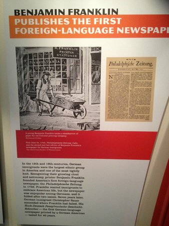 Newseum: Sections on history of foreign language newspapers