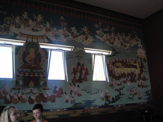 Templo budista: wall paintings