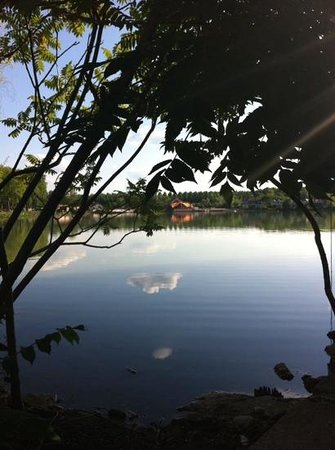 Cafe Zik: view from across the lake