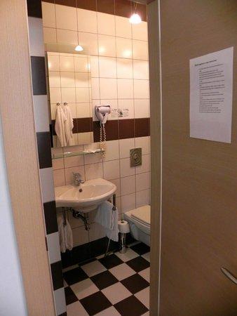 Rixwell Terrace Design Hotel : Toalett med duschkabin.