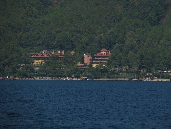 Marmaris Park Hotel: Вид на отель с моя