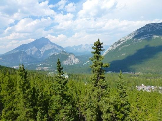 Rimrock Resort Hotel: View from Sulphur Mountain nearby.