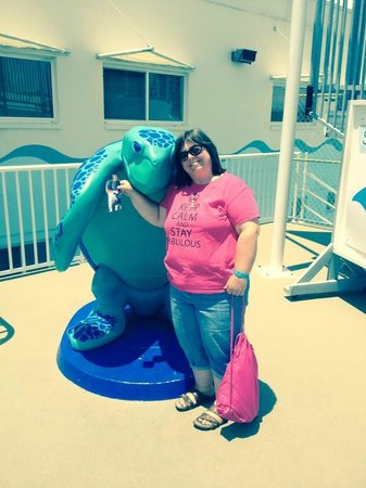 Clearwater Marine Aquarium: Carolyn with Flat Kyle from Winona MN