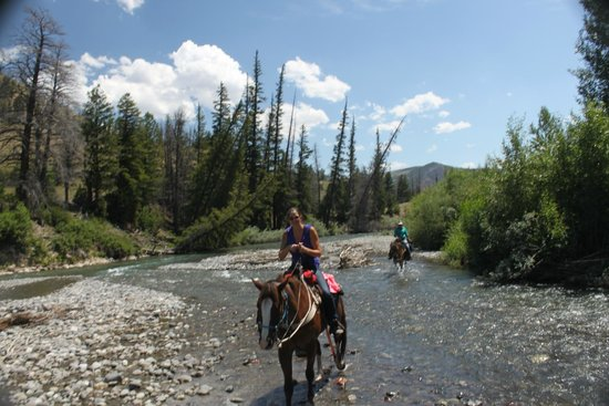 The Lazy L&B Ranch: Crossing water