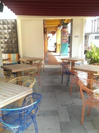 The Daulat: Outdoor dining area