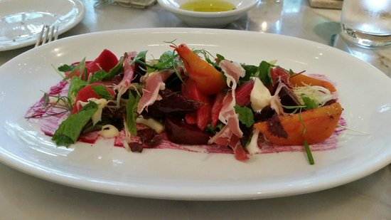 Caffe Storico: Roasted Baby Beets,Prosciutto and Robiola