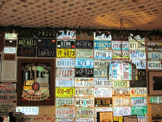 Mrs. Mac's Kitchen: Number plates in the restaurant - 2