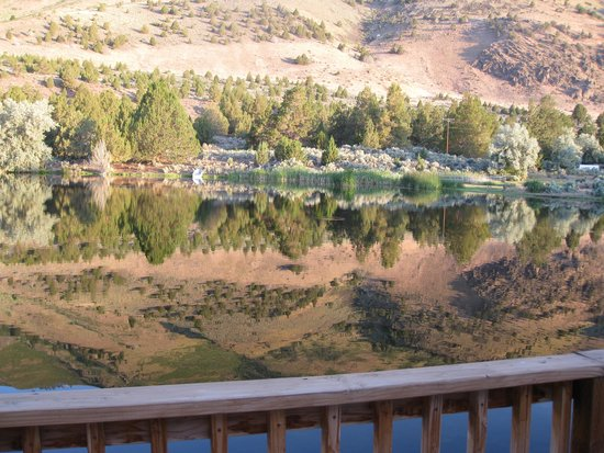The Lodge at Summer Lake : Morning on the deck