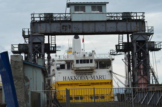 bridge beside the ferry dock - Picture of Seikan Ferry Memorial Ship Hakkodam...