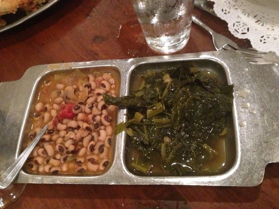 Pittypat's Porch: Collard greens and blackened peas