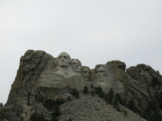 Mount Rushmore National Memorial: As up close as my camera would get.