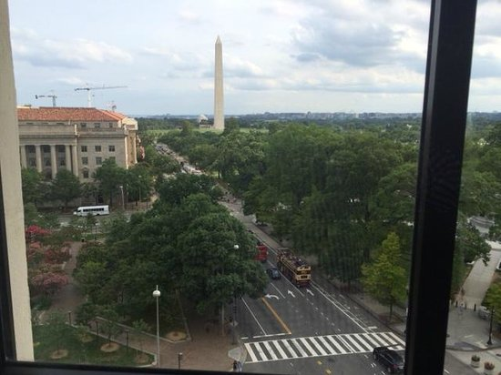 W Washington DC : View of the Washington Monument from the window in the sitting area.