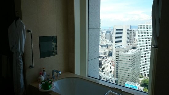 The St. Regis Osaka : nice view from bathroom
