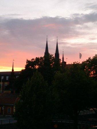 Grand Hotell Hornan : vista al tramonto