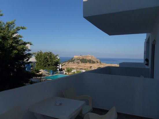 Lindos Gardens Resort Complex: View from our balcony