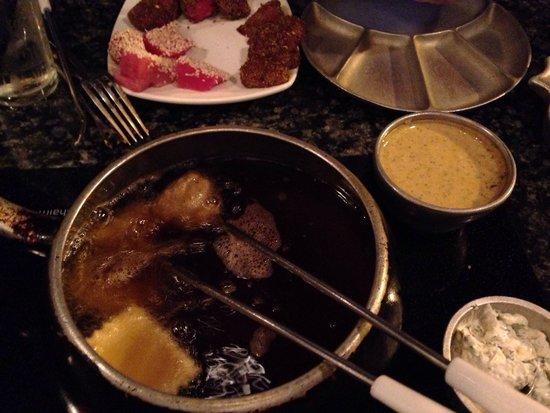 Simply Fondue: Dinner!  Yum!