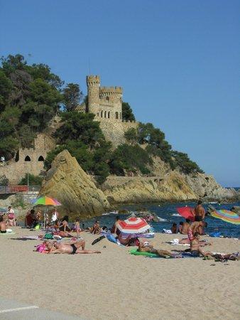 Hotel Acacias Suites & Spa : Пляж с видом на замок