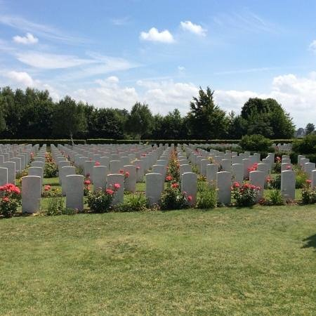 British War Cemetery: Row after row after row....