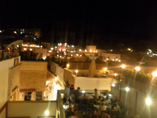 Dionysos Restaurant-Meze: View from top balcony