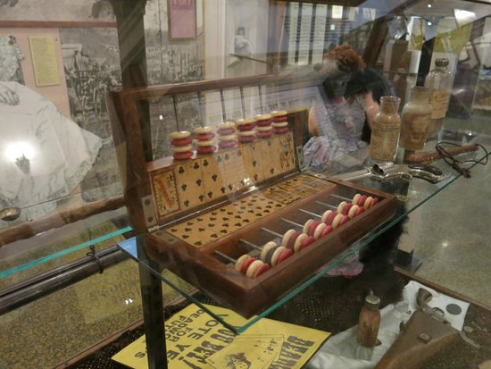 Adams Museum: This is an old gambling game called Faro