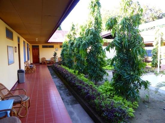 Garden and sitting area at Pondok SVD