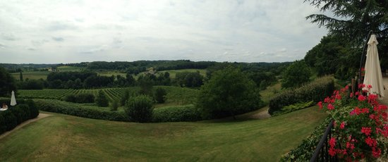 Chateau de Sanse: view from the terrasse