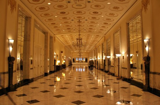 hall to grand ballroom picture of the mayflower hotel. Black Bedroom Furniture Sets. Home Design Ideas