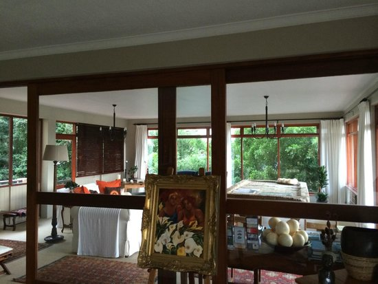 Wilderness Manor Guest House: largest interior sliding doors ever!!