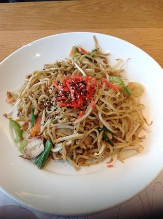 Wagamama: Yaki Soba noodles...to die for!!!