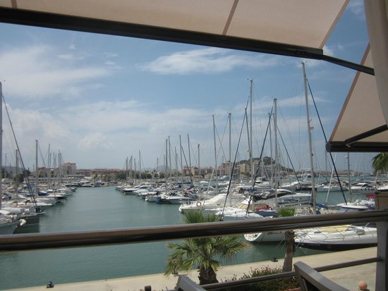 Republic : View of the marina from our table