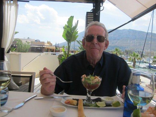 Republic : Enjoying a very juicy prawn cocktail