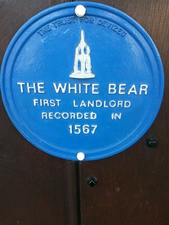 The White Bear: Hotel plaque...
