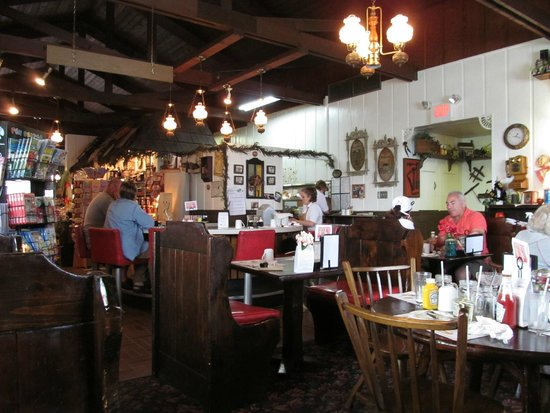 Dutch Pantry: One side of the dinning area inside.