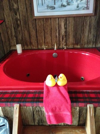 Romantic Riversong Bed and Breakfast Inn: Cowboy's Delight hot tub!