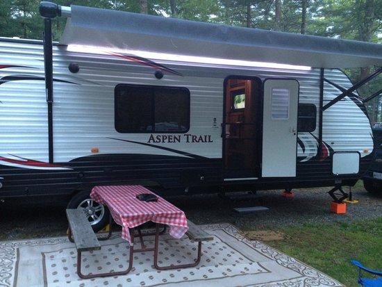 Boston/Cape Cod KOA : Trailer on site