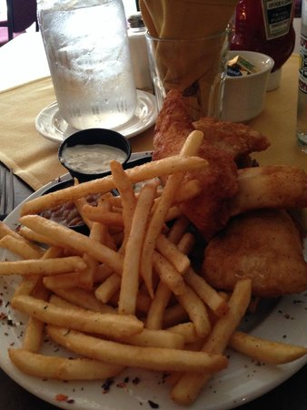 The Brick Restaurant & Spirits: Walleye and fries