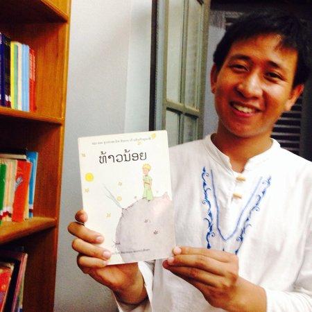 Bibliothèque de Luang Prabang : Le Petit Prince en Lao ^_^