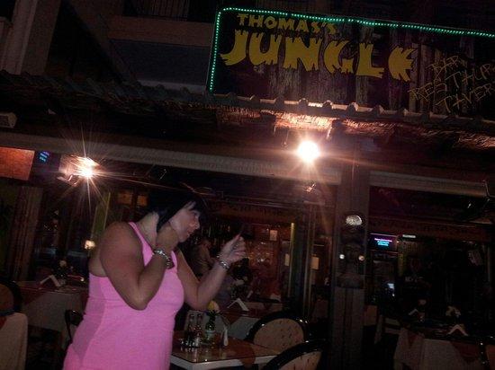 Thomas's Jungle Taverna: My Mrs at the jungle