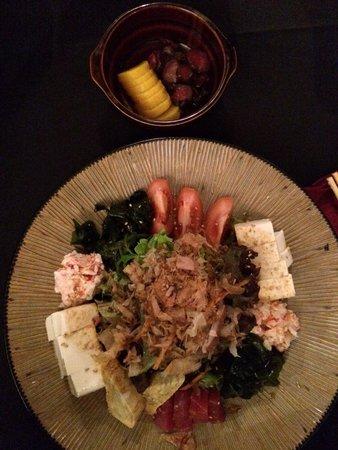 Takara Japanese Restaurant: Takara Salad and Japanese Pickles.