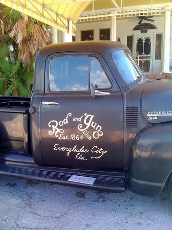 Rod and Gun Club: Entry with vintage truck