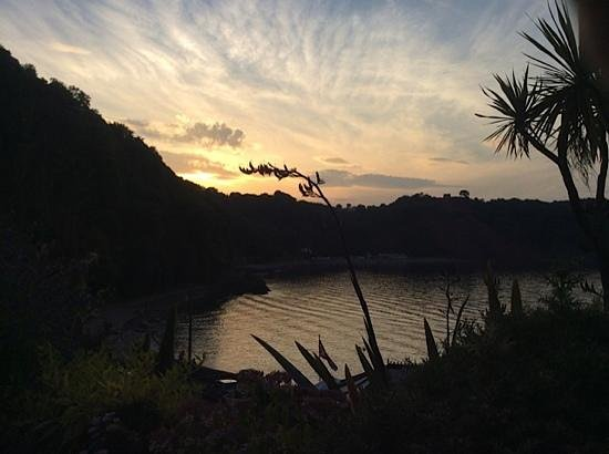 Cary Arms & Spa: The end of a perfect day at Babbacombe Bay