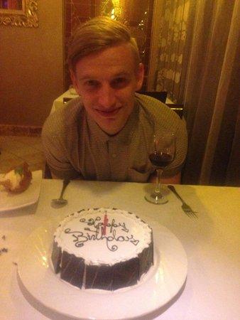 Paradisus Rio de Oro Resort & Spa: They made him a cake!!