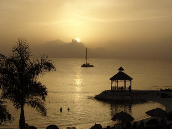 Secrets Wild Orchid Montego Bay : Our view of the sunset from our room at Wild Orchid Preferred Club