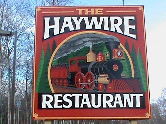 The Haywire Family Restaurant: SIGN
