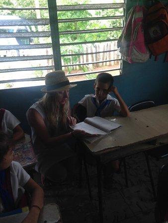 Paradisus Rio de Oro Resort & Spa: Trip ran by the hotel entertainment staff, visit to a school.