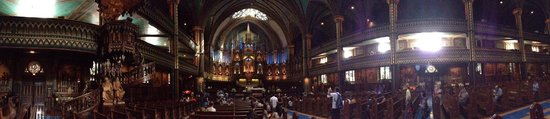 Basilique Notre-Dame de Montréal : Pano view of altar