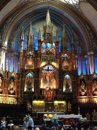 Basilique Notre-Dame de Montréal : Altar area